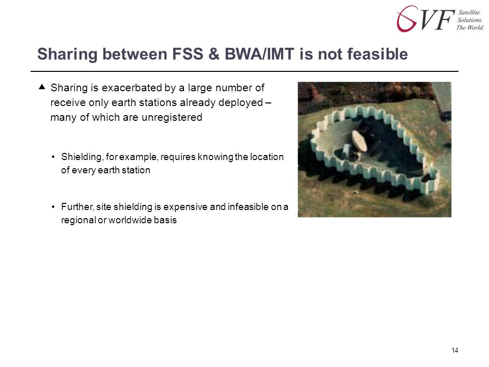 Sharing between FSS & BWA/IMT is not feasible
