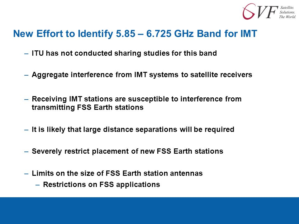 New Effort to Identify 5.85 – GHz Band for IMT