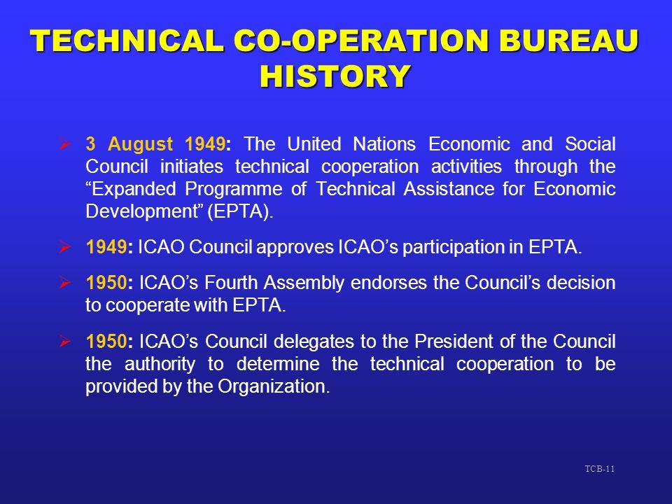 TECHNICAL CO-OPERATION BUREAU HISTORY