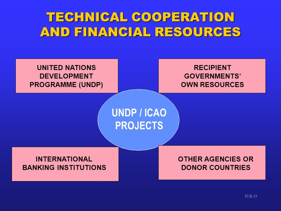 TECHNICAL COOPERATION AND FINANCIAL RESOURCES