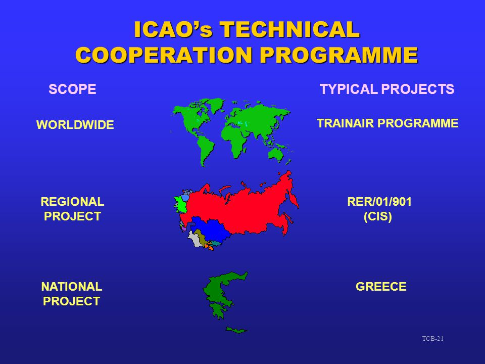 ICAO's TECHNICAL COOPERATION PROGRAMME