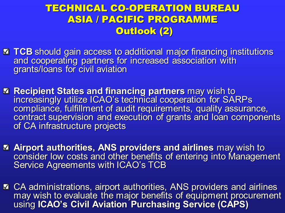 TECHNICAL CO-OPERATION BUREAU ASIA / PACIFIC PROGRAMME Outlook (2)