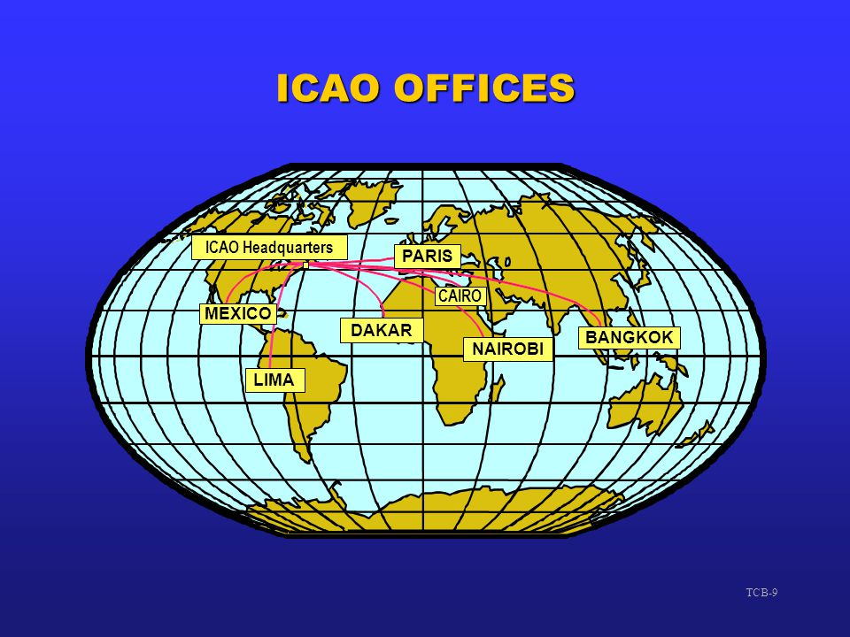 ICAO OFFICES ICAO Headquarters PARIS CAIRO MEXICO DAKAR BANGKOK