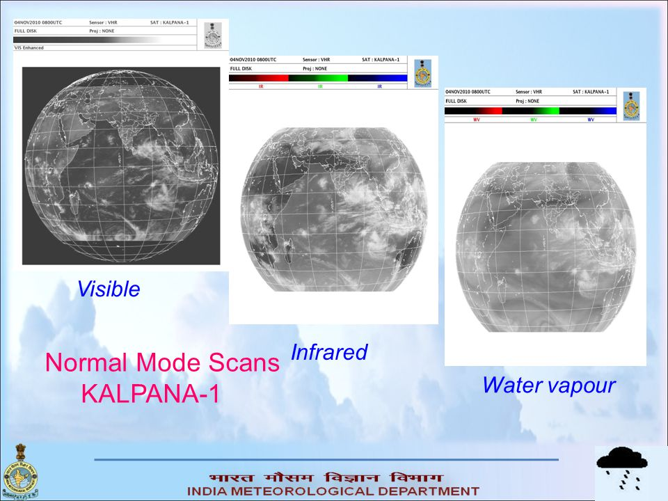 Visible Infrared Normal Mode Scans KALPANA-1 Water vapour