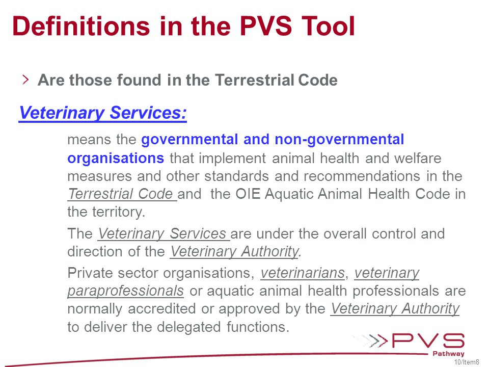 Definitions in the PVS Tool