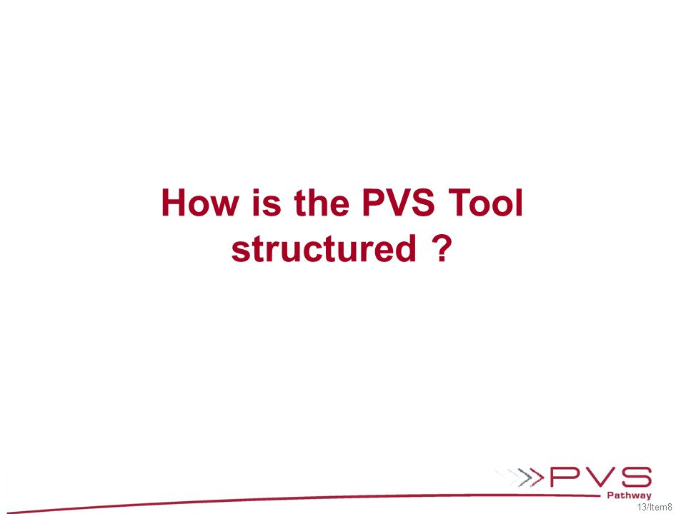 How is the PVS Tool structured