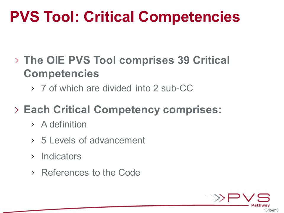 PVS Tool: Critical Competencies