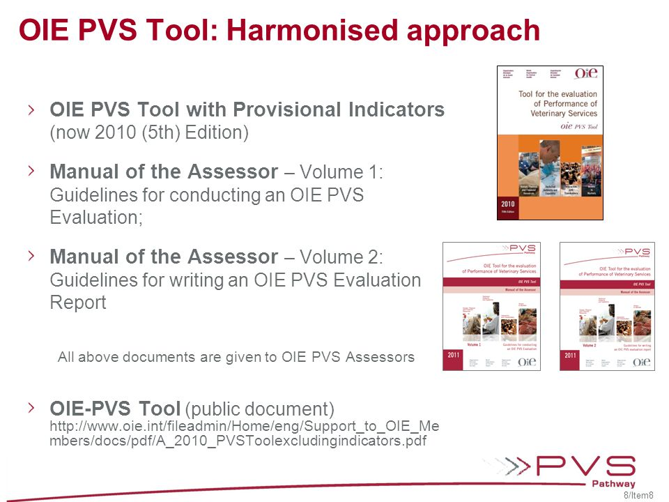 OIE PVS Tool: Harmonised approach