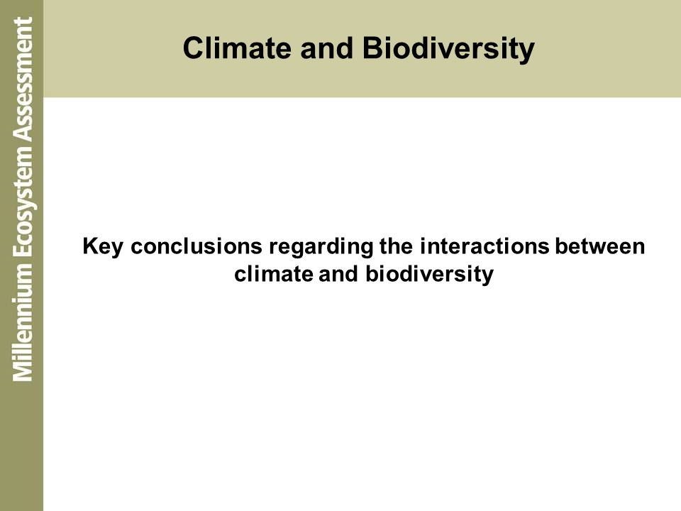 Climate and Biodiversity