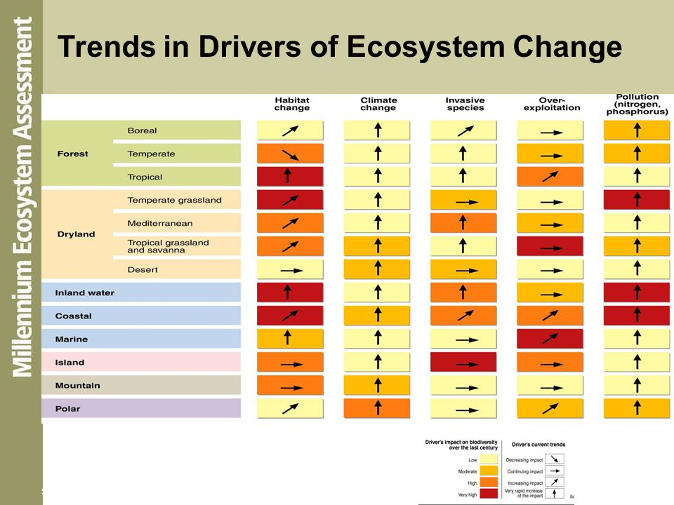Trends in Drivers of Ecosystem Change