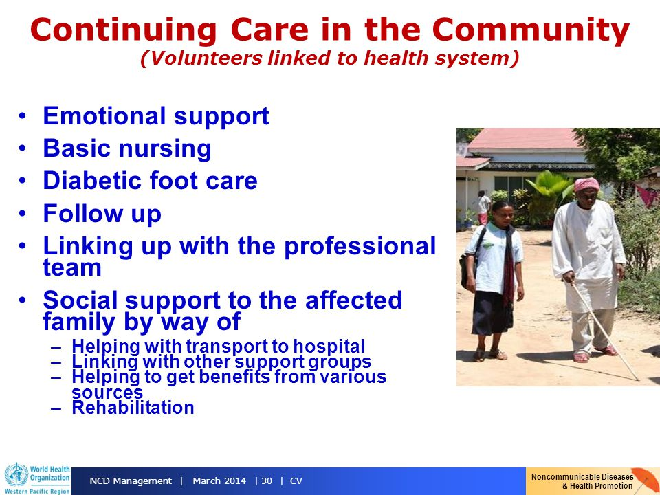 Continuing Care in the Community (Volunteers linked to health system)