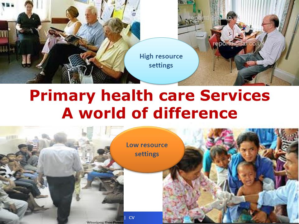 Primary health care Services A world of difference