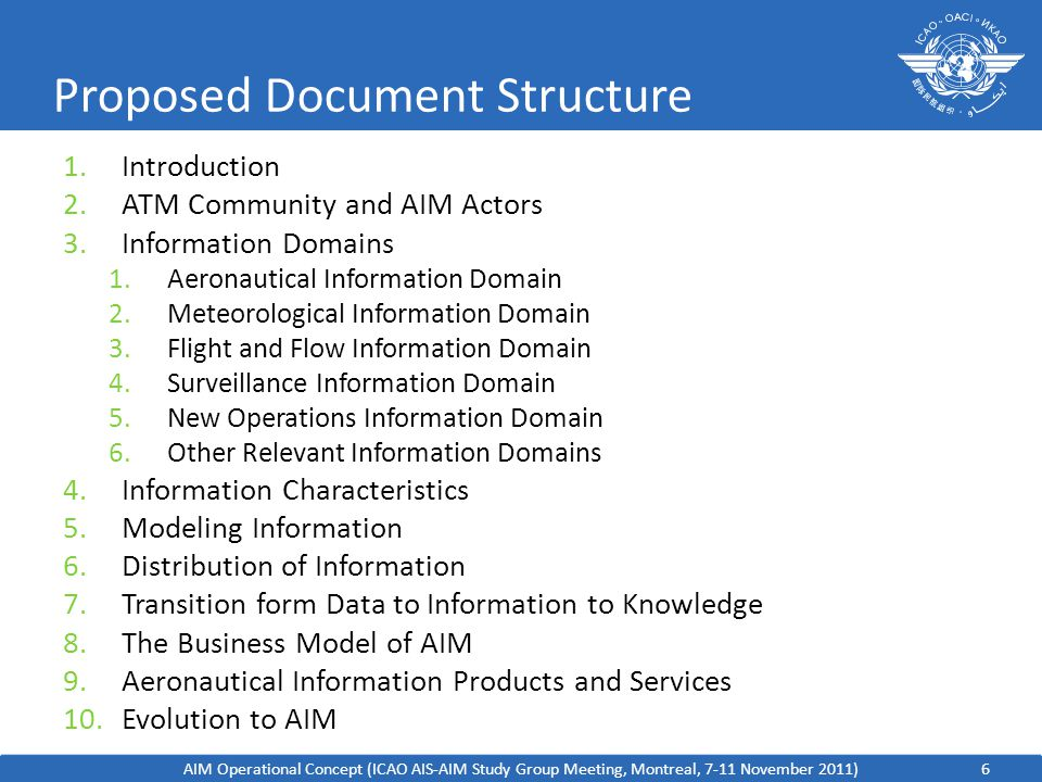 Proposed Document Structure