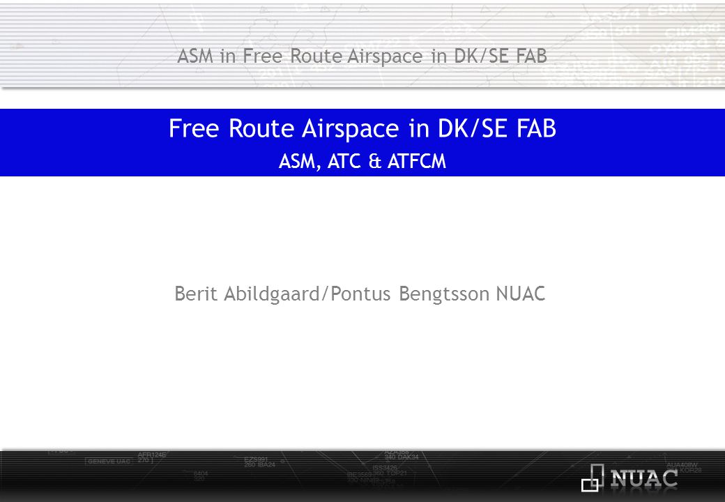 Free Route Airspace in DK/SE FAB