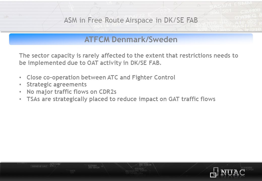 ASM in Free Route Airspace in DK/SE FAB