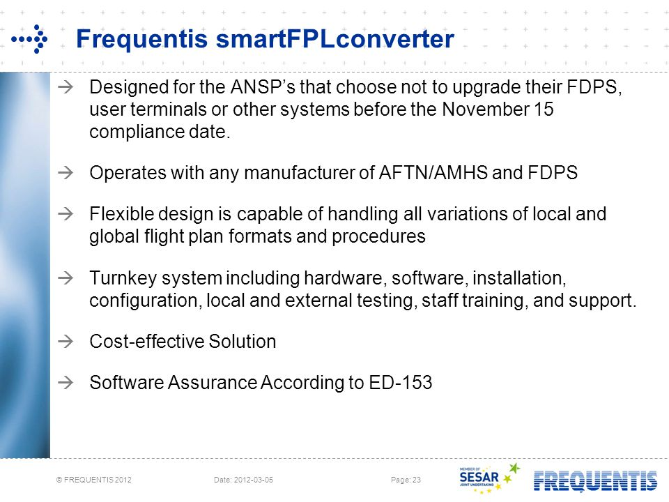 Frequentis smartFPLconverter