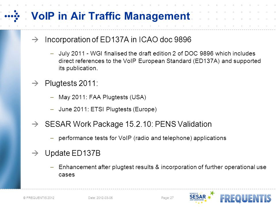 VoIP in Air Traffic Management