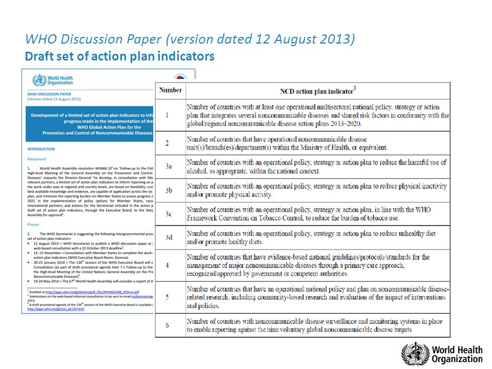 WHO Discussion Paper (version dated 12 August 2013)