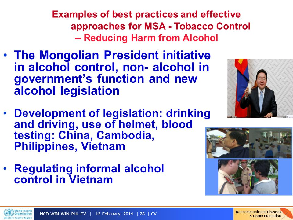 -- Reducing Harm from Alcohol