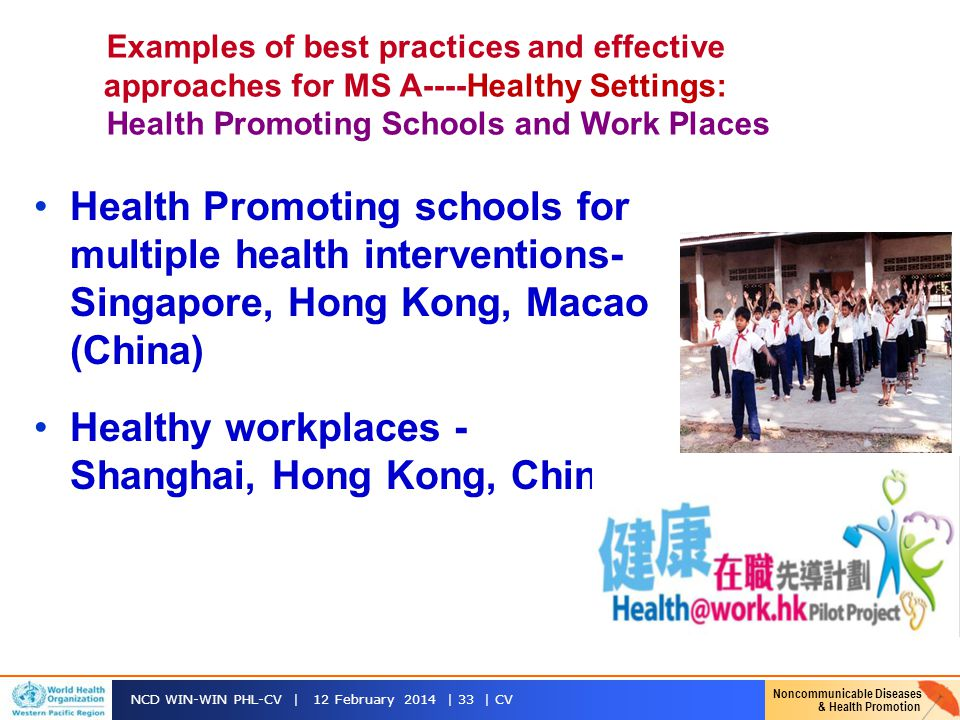 Healthy workplaces - Shanghai, Hong Kong, China