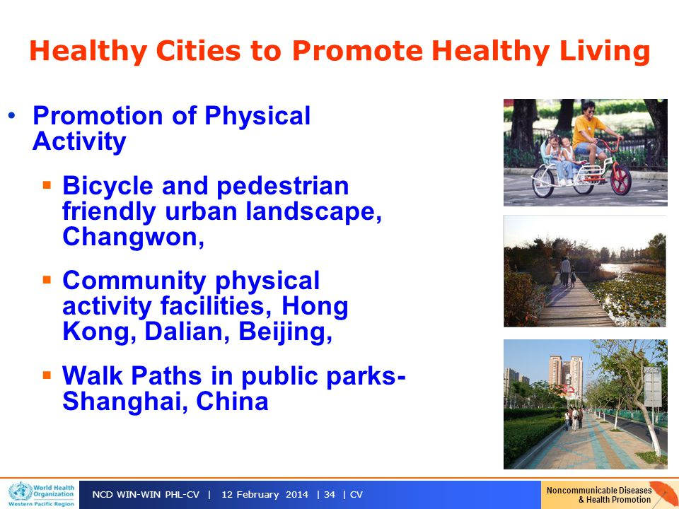 Healthy Cities to Promote Healthy Living