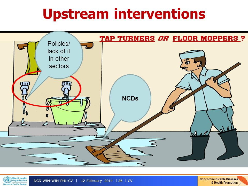 Upstream interventions