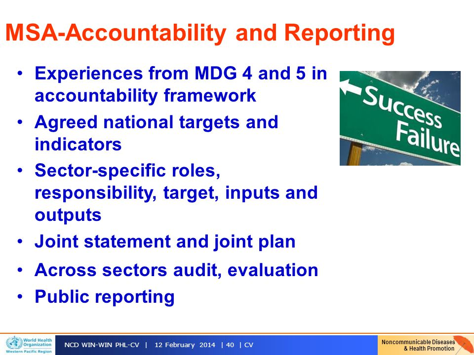 MSA-Accountability and Reporting