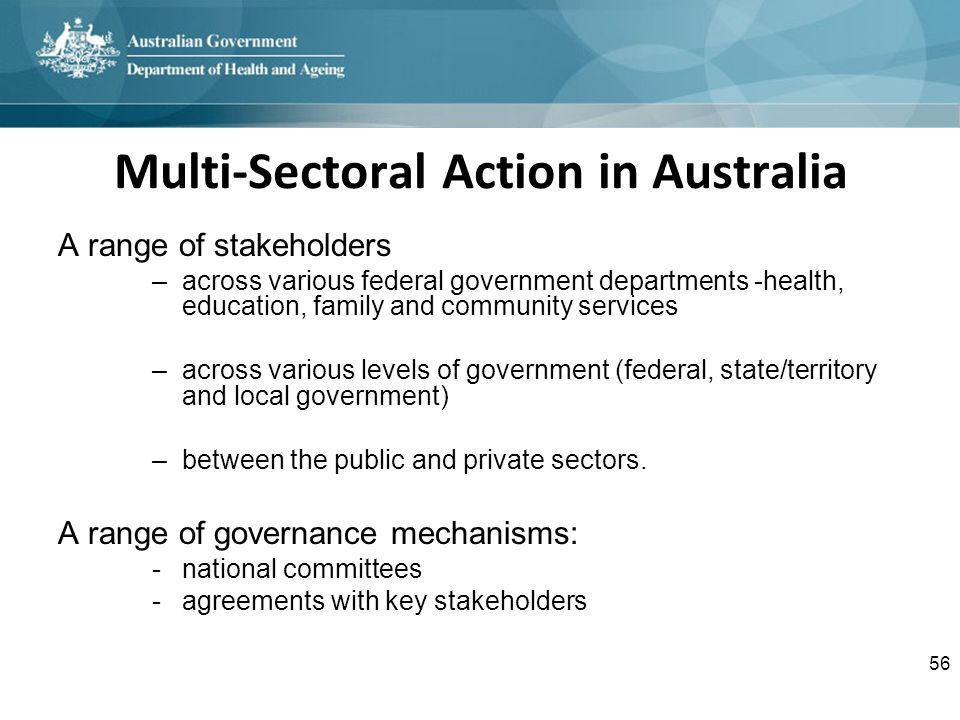 Multi-Sectoral Action in Australia