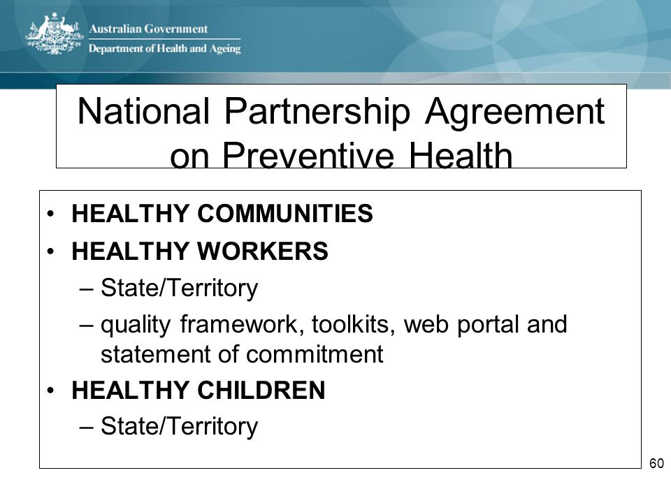 National Partnership Agreement on Preventive Health