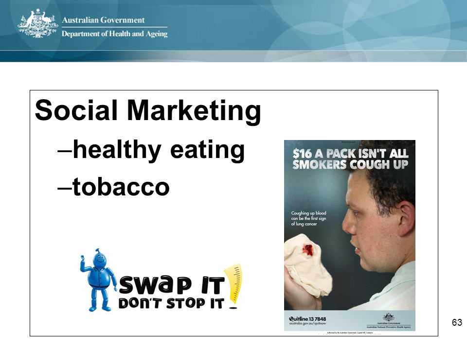 Social Marketing healthy eating tobacco
