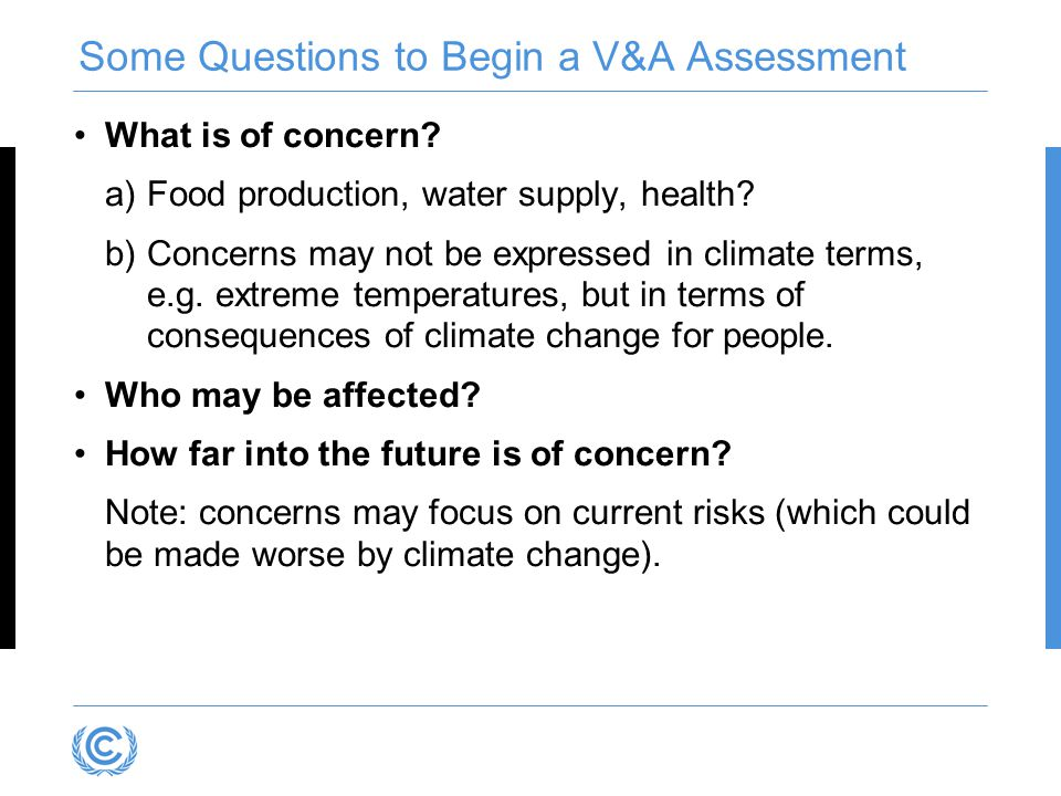 Some Questions to Begin a V&A Assessment