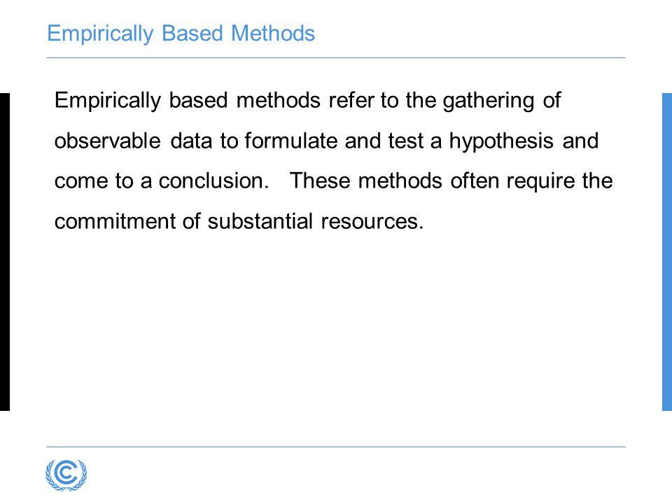 Empirically Based Methods