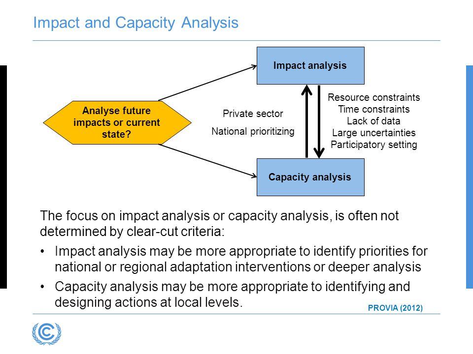 Impact and Capacity Analysis