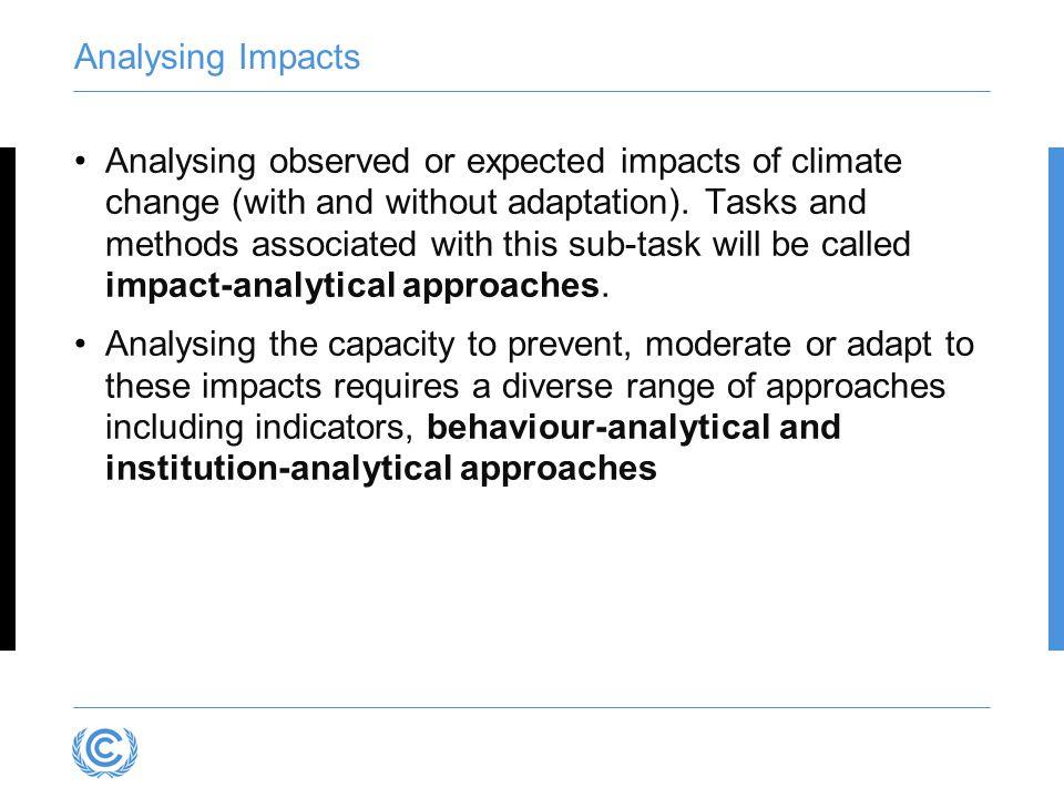 Analysing Impacts