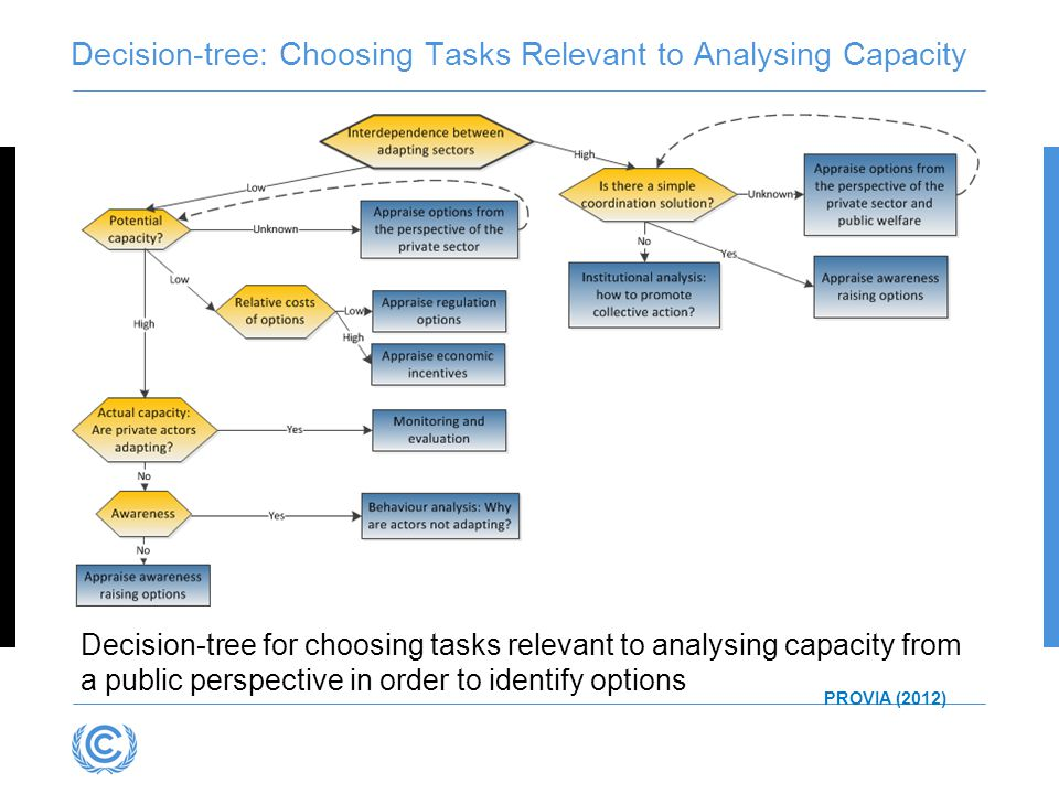 Decision-tree: Choosing Tasks Relevant to Analysing Capacity