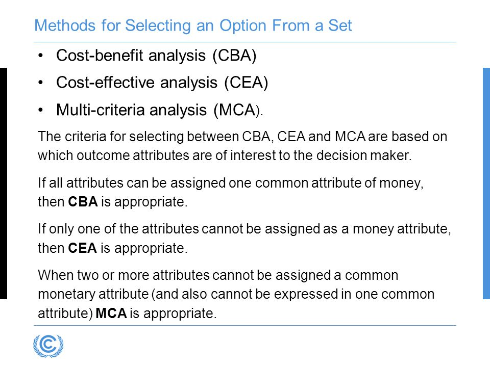 Methods for Selecting an Option From a Set
