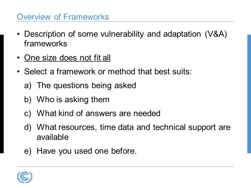 Overview of Frameworks