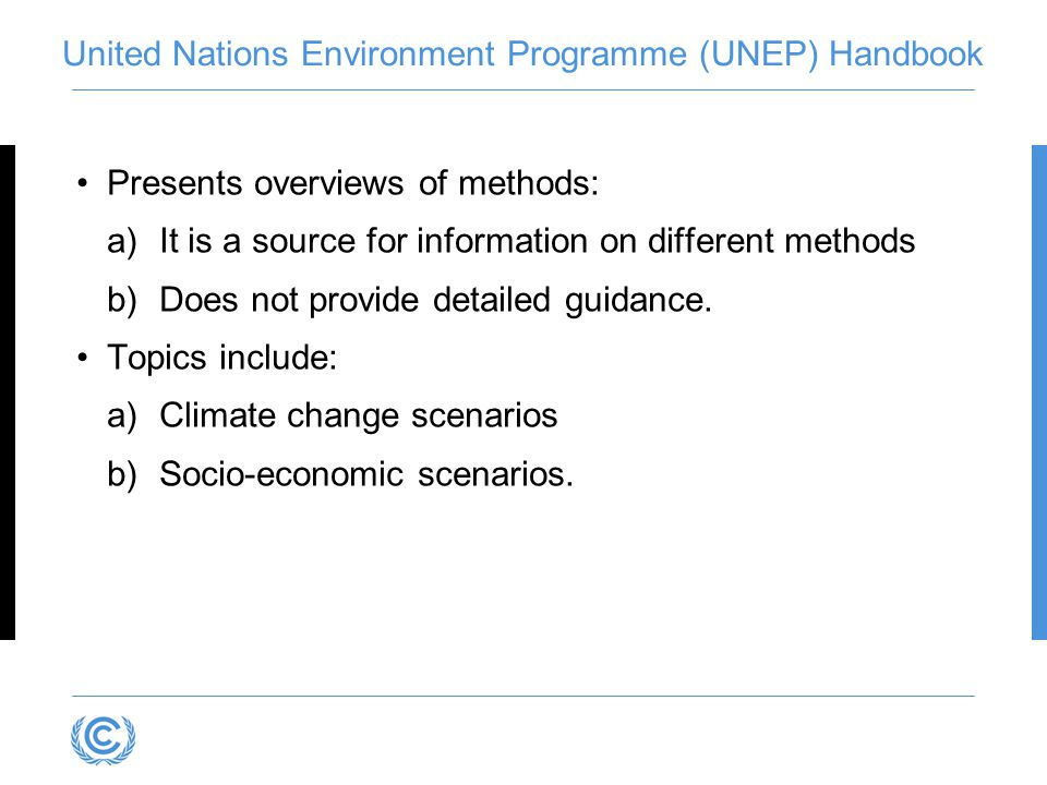United Nations Environment Programme (UNEP) Handbook