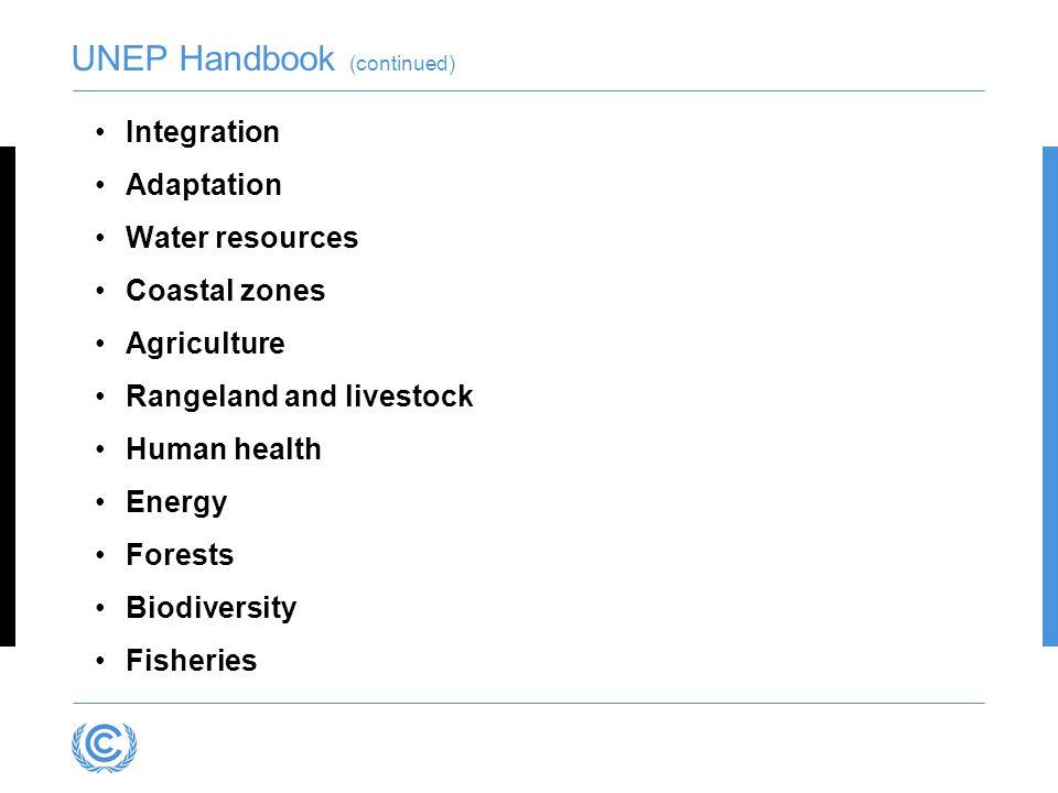 UNEP Handbook (continued)