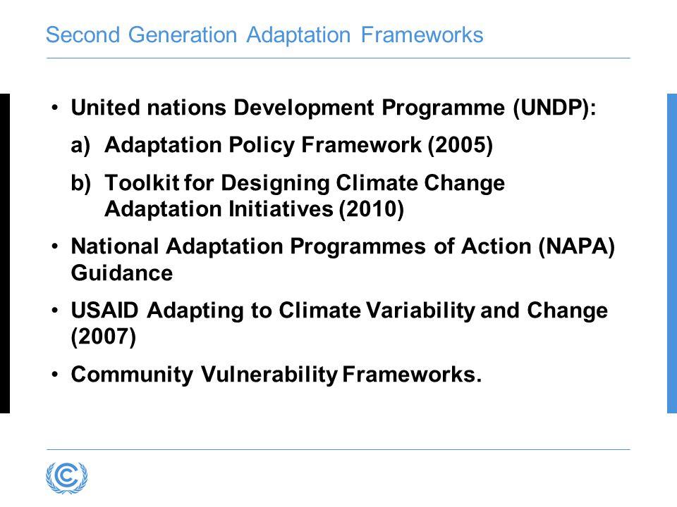 Second Generation Adaptation Frameworks