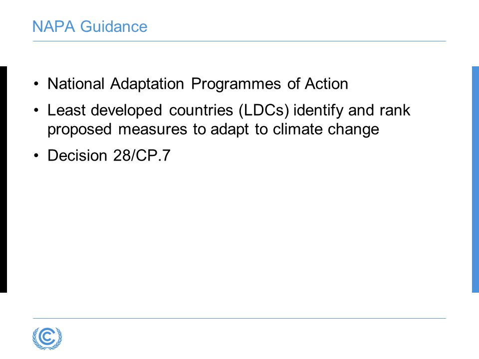 National Adaptation Programmes of Action