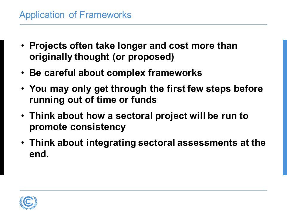 Application of Frameworks