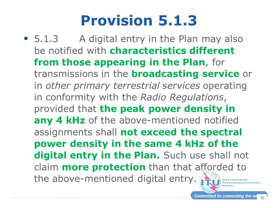 Provision 5.1.3