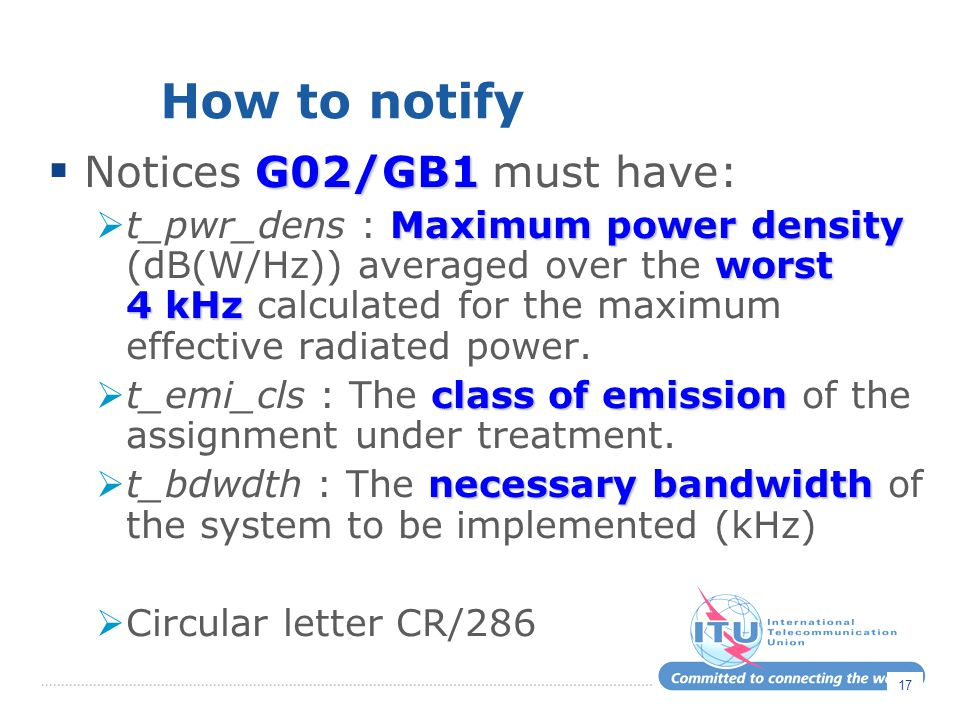 How to notify Notices G02/GB1 must have: