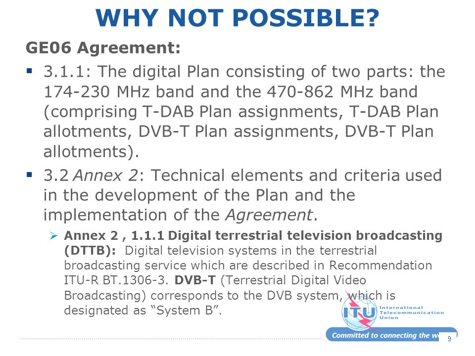 Why not possible GE06 Agreement: