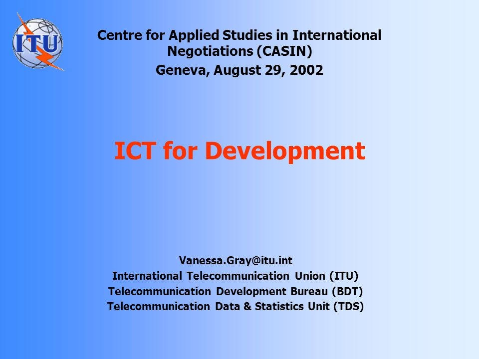 Centre for Applied Studies in International Negotiations (CASIN)