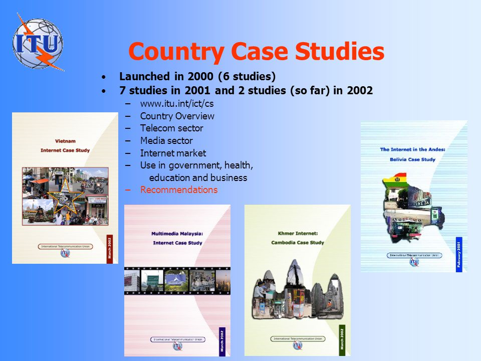 Country Case Studies Launched in 2000 (6 studies)