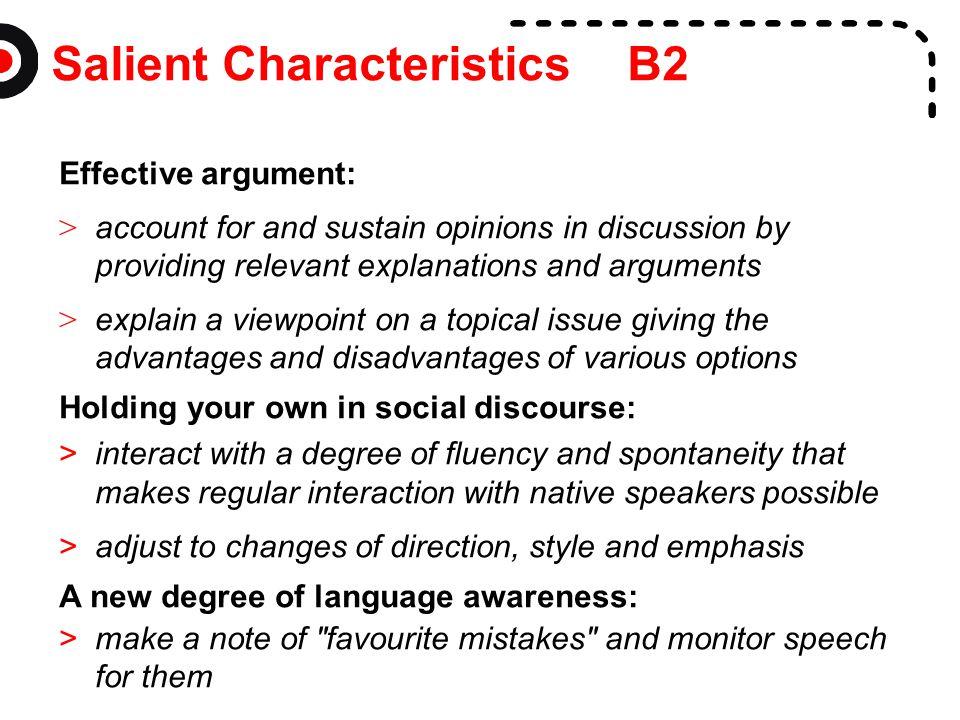 Salient Characteristics B2