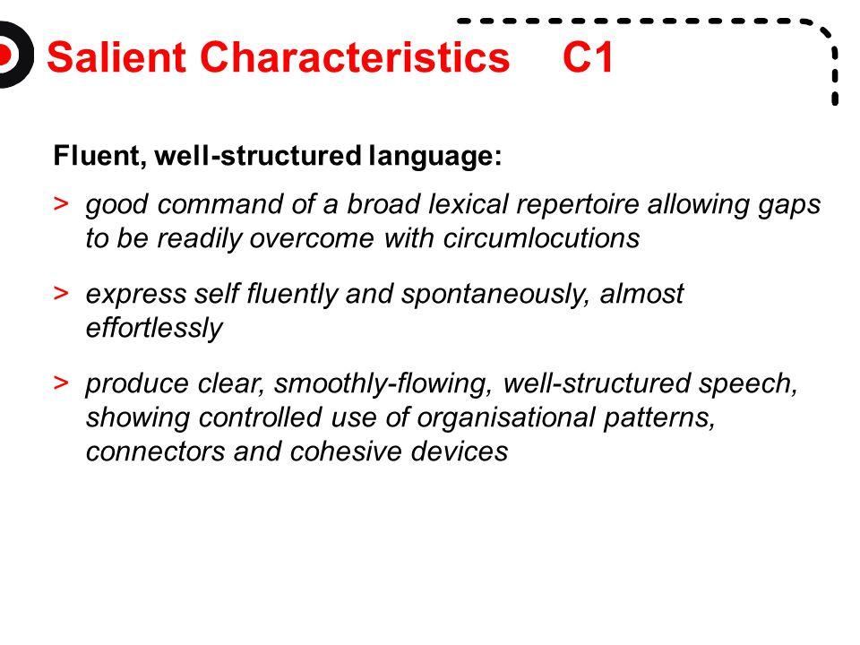 Salient Characteristics C1