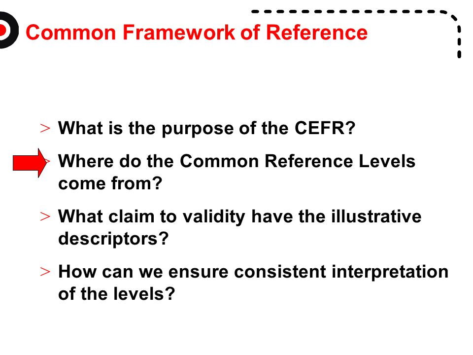 Common Framework of Reference